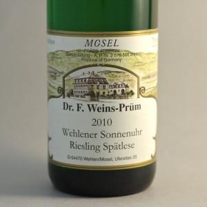Dr. F. Weins-Prüm Wehlener Sonnenuhr Riesling spatlese
